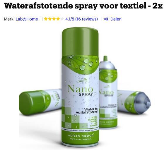 beste waterdicht spray