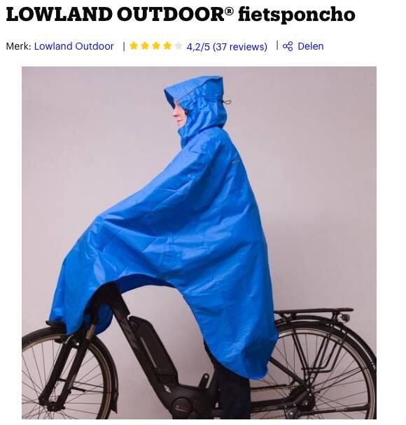 beste regenponcho fiets